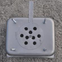 steam pan charcoal stove bottom with perforated lollipop air control